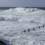 High seas at Sydney's Mahon Pool