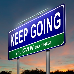 Sign - Keep going, you can do this